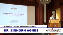 Dr. Einhorn Ágnes előadása