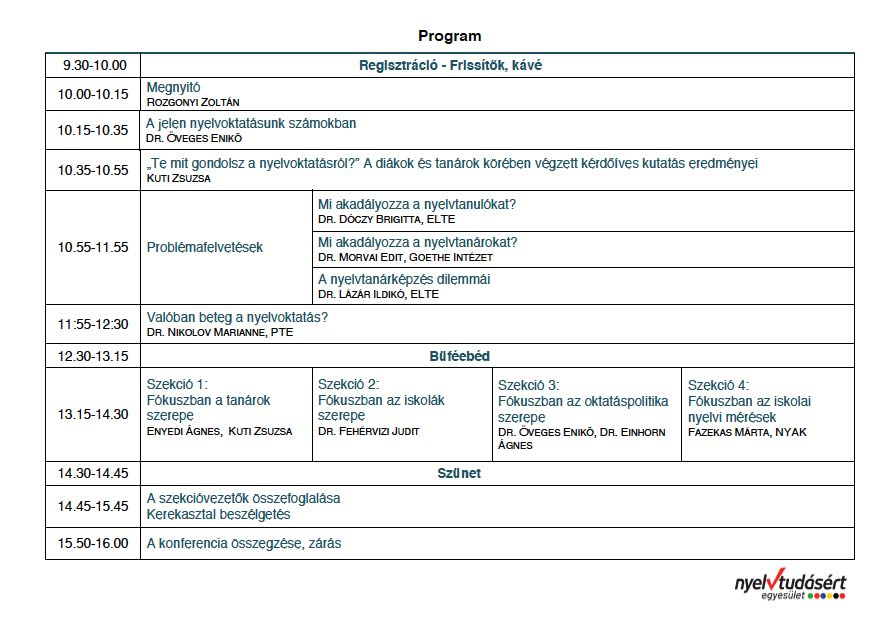 Tervezett program